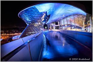A blueish BMW Welt