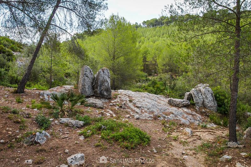 El Barret del Rector en el camino al Castell Vell d'Olivella