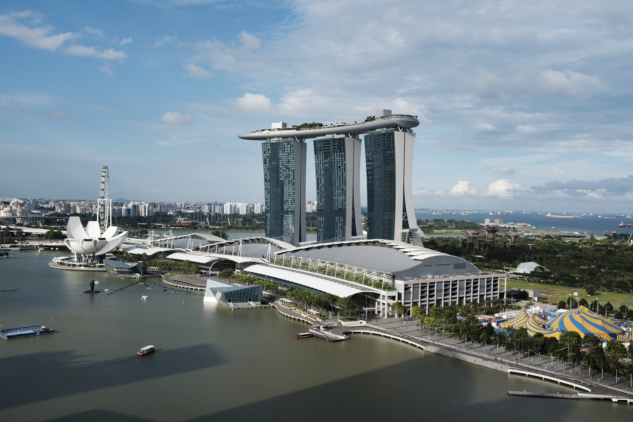 A photo of the Marina Bay Sands
