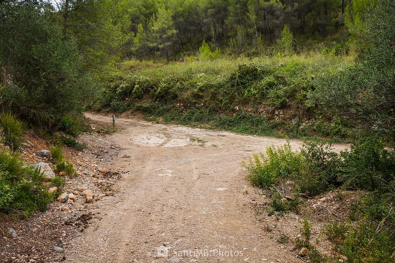 Cruce del camino de Mas Vendrell con el PR-C 37