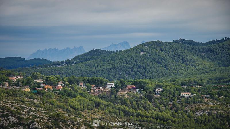 Montserrat desde el Puig Molí de Olivella