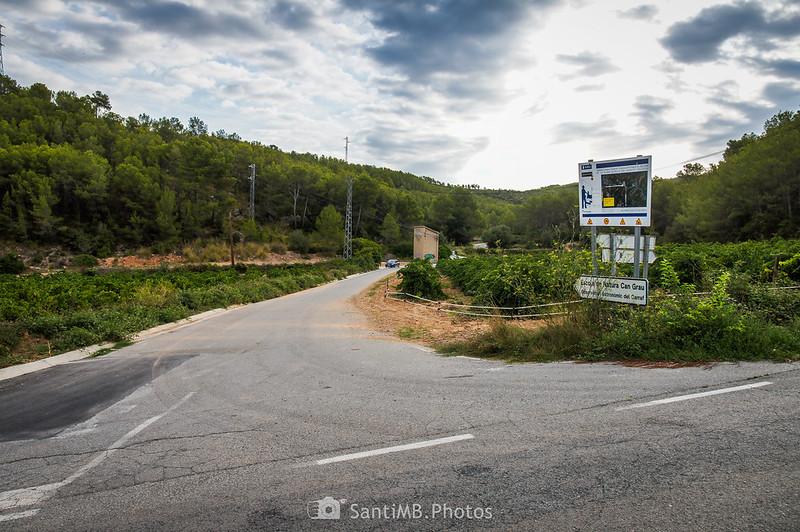 Carretera a Can Grau en Olivella