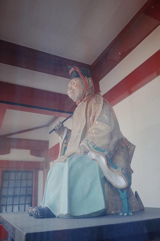 永田町二丁目日枝神社本殿神門雄猿