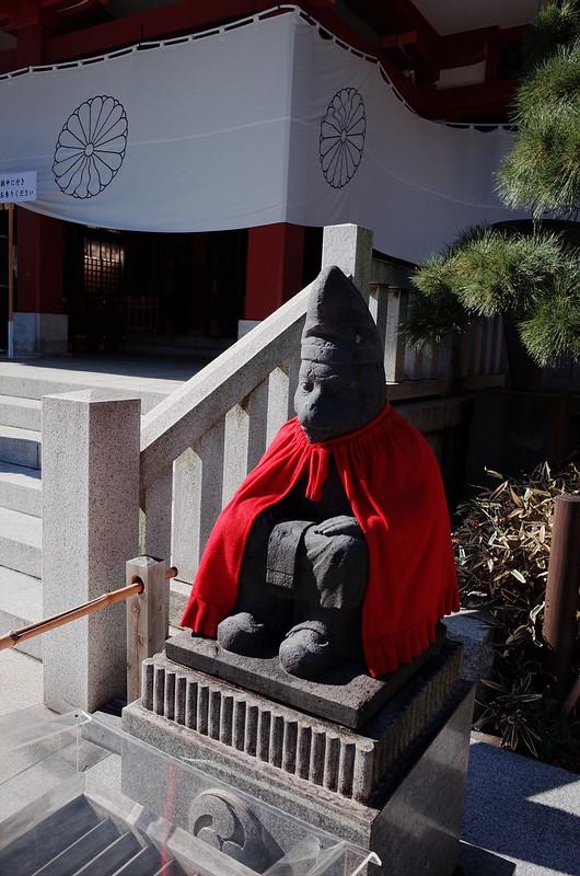 永田町二丁目日枝神社本殿雄猿
