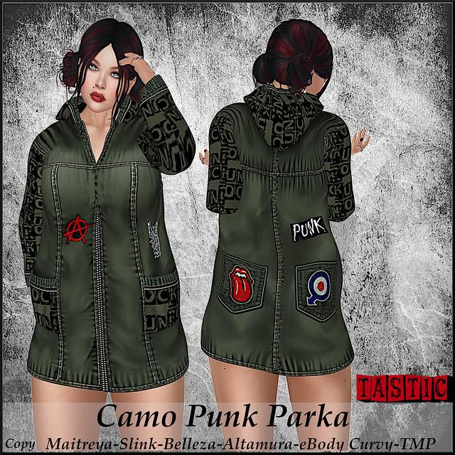 Tastic-Camo Punk Parka!
