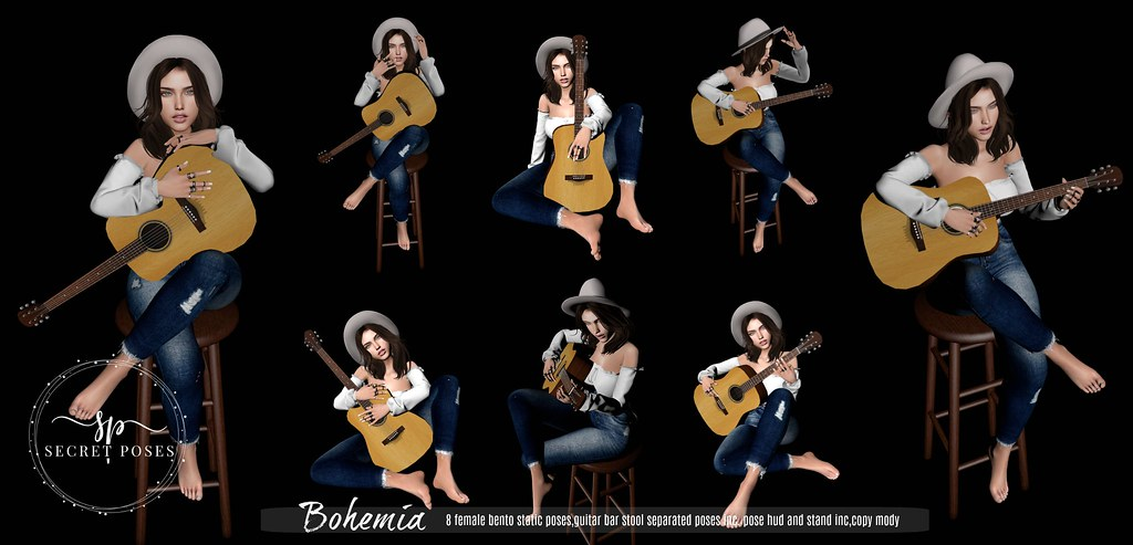 Secret Poses – Bohemia @ Shiny Shabby