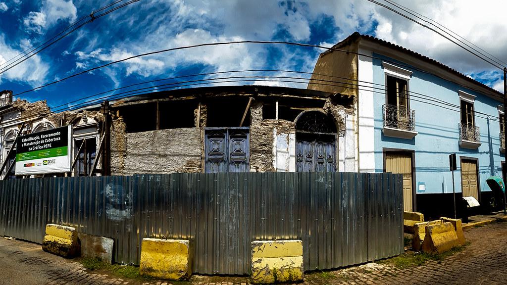 Ruínas antiga Grafica Pepe, Cuiabá, Mato Grosso, Brasil.