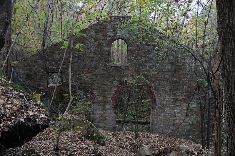 Stone arch wall.