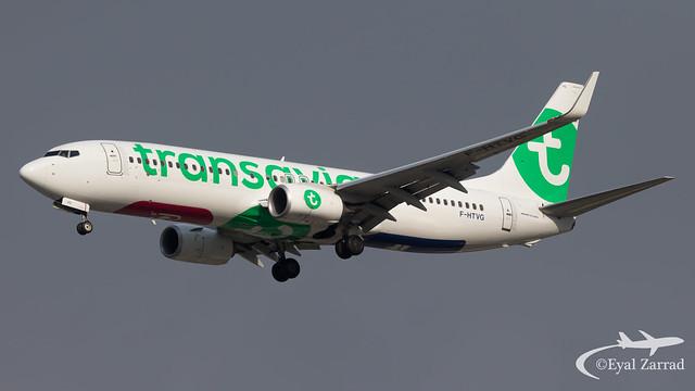 TLV - Transavia France Boeing 737-800 F-HTVG