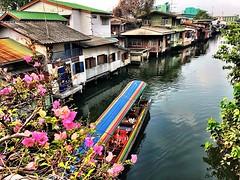 Khlong boat below the bridge #bangkok #urbanhike