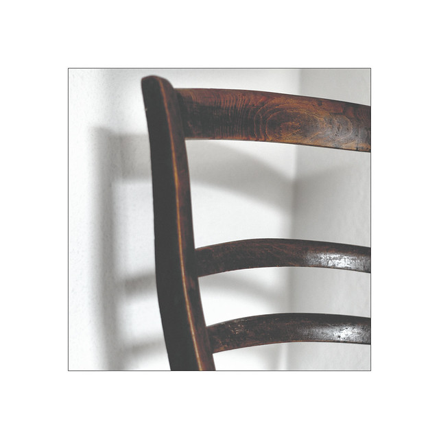 the old wooden chair