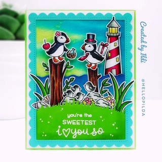 Happily sharing my lateyt Lawn Fawn card, I've created this one for the Lawn Fawnatics challenge #68.