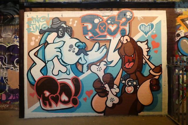 Roo graffiti, Leake Street