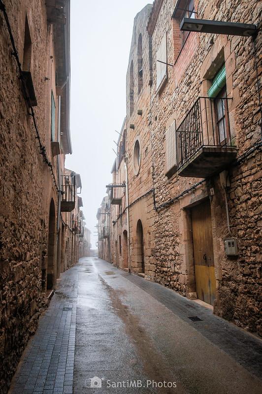 Calle principal de Mas de Bondia