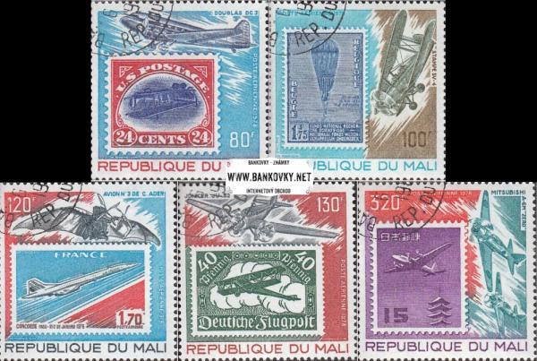 Známky Mali 1978 História letectva, razítkovaná séria