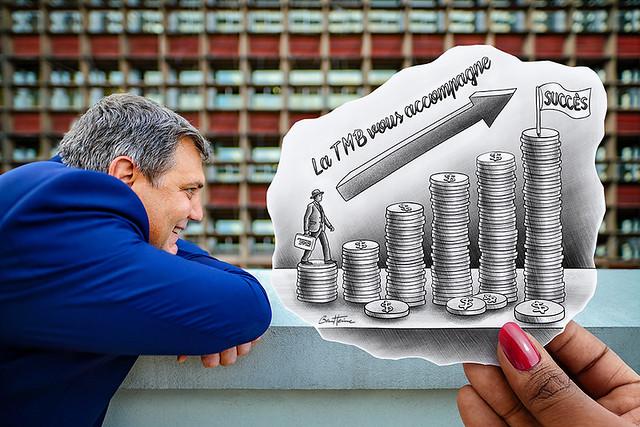 Pencil Vs Camera - Oliver Meisenberg - Trust Merchant Bank - Banque TMB - Kinshasa, Republique Democratique du Congo - Ben Heine Art