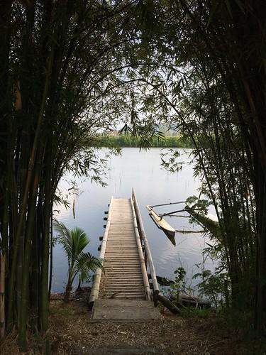 Koh samui Walking street under the bamboo. サムイ島自然派ウォーキングストリート