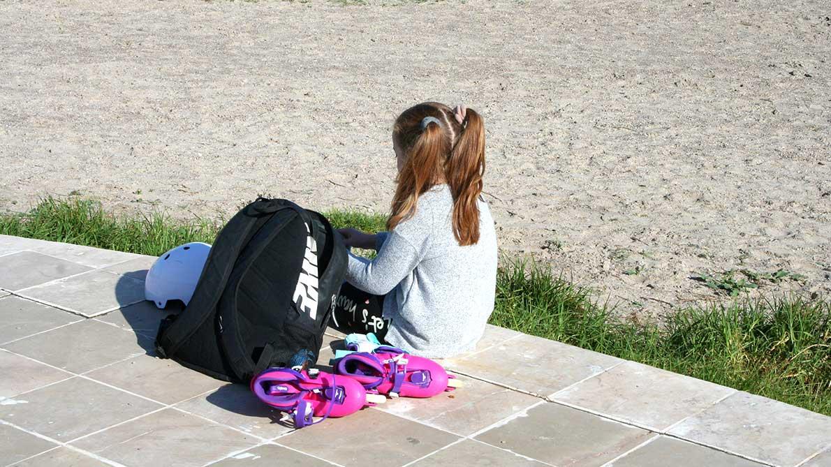 Patinar en el paseo de la playa de Pinedo Valencia