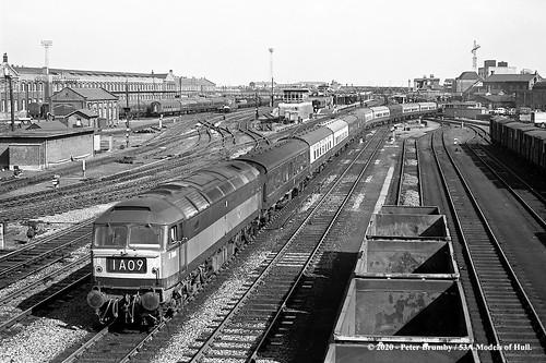britishrailways brush type4 class47 d1100 47298 diesel passenger doncaster yorkshire train railway locomotive railroad