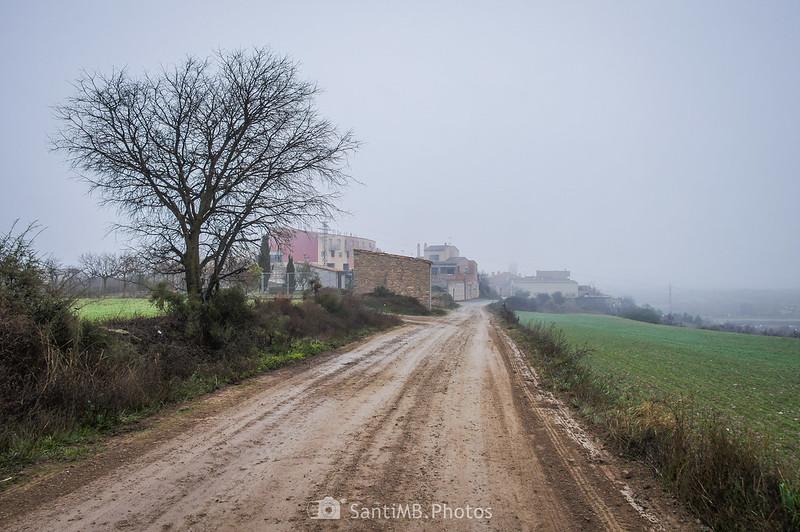 Entrando en Verdú por el camino de la Ventallola