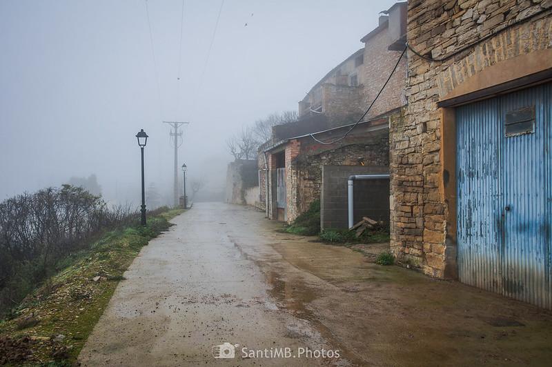 Parte norte del camino de ronda de Mas de Bondia