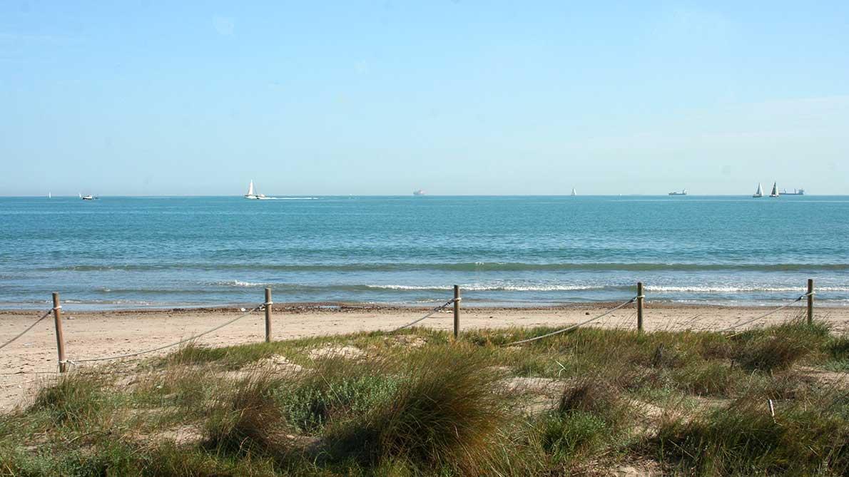 Patinando y disfrutando de la playa de Pinedo, Valencia