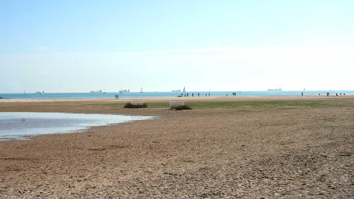 Playa de Pinedo en Valencia