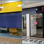 CherryBomb and Bowtique stores closed at the St Georges Shopping Centre in Preston