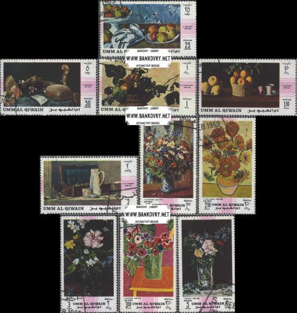 Známky Umm al Qaiwain 1968 Majstrovské zátišia raz. séria