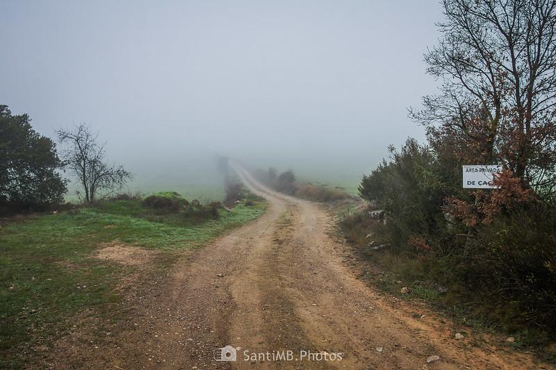 Límite entre Verdú y Montornès de Segarra en el camino a Mas de Bondia