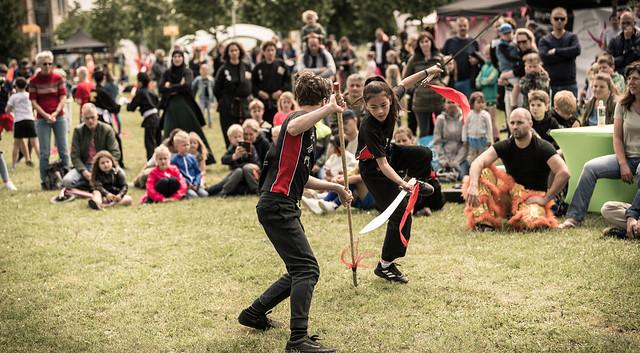 Martial artists.