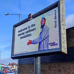 Large screen advertisement roadside board on Blackpool Road, Preston
