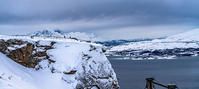 View of the cliff of Storsteinen (The Big Rock) at Tromso, Norway- 61