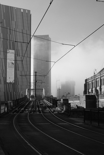Manchester in the fog