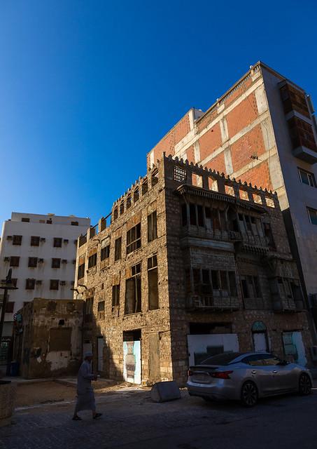 Old house under renovation in al-Balad quarter, Mecca province, Jeddah, Saudi Arabia