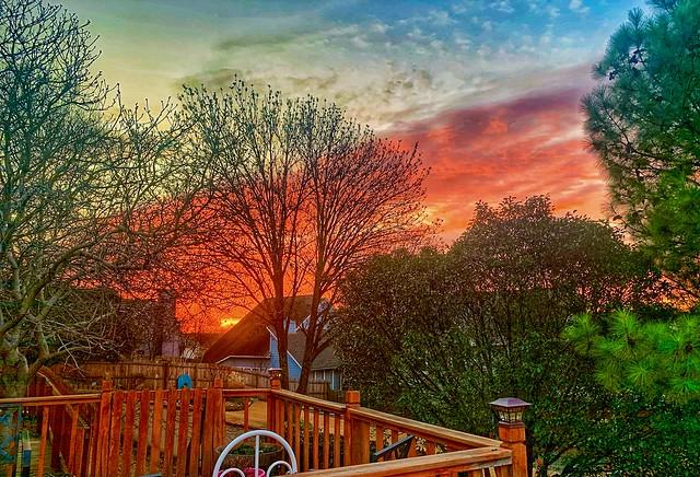 Sunrise on my deck