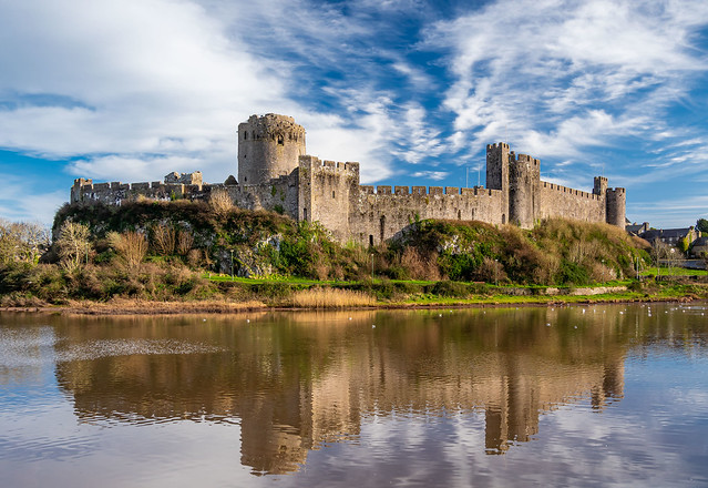 Pembroke Castle, Pembrokeshire, Wales.
