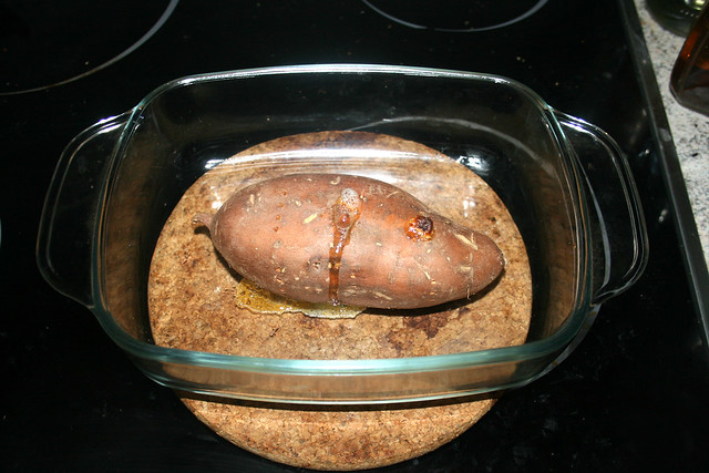 26 - Süßkartoffel aus Ofen nehmen / Take sweet potato from oven