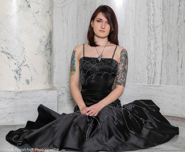 Showing off an old Prom dress
