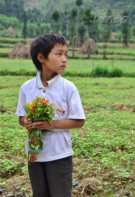 Hmong school boy in northwestern Vietnam