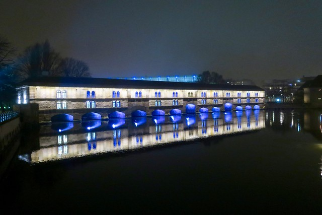 Strasbourg - Illuminations des fortifications Vauban