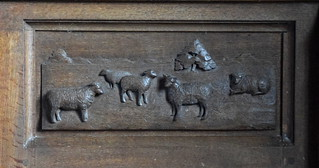 sanctuary panelling: sheep