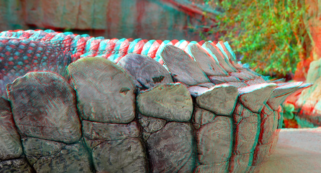 Tail Crocodile Blijdorp Zoo Rotterdam 3D