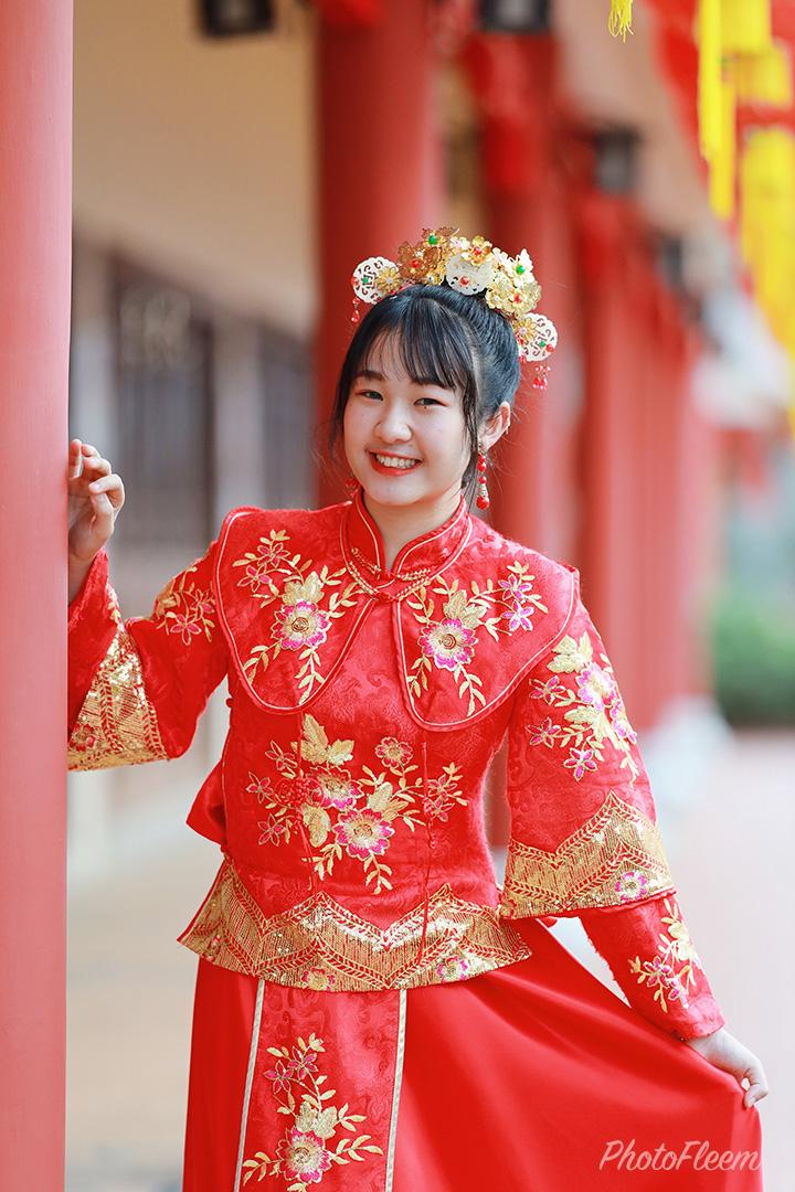 ภาพถ่ายชุดกี่เพ้า โทนตรุษจีนสว่างสดใส แอพ vsco