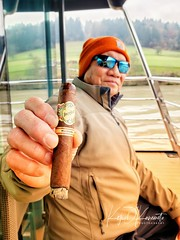 My #cigar bud at the fantail of a #Gate1 Danube River cruise... in late November! We be hard core cigar aficionados!