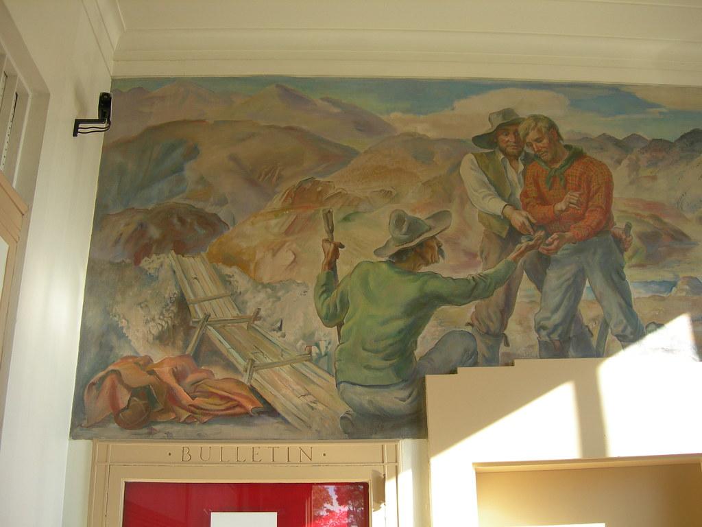 Lovelock, Nevada Post Office Mural Detail