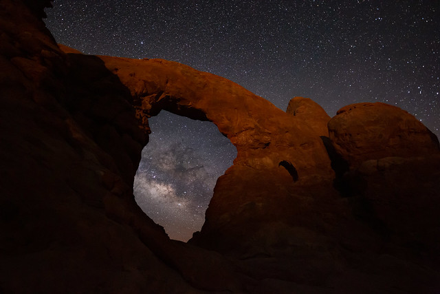 Lights at Turret Arch