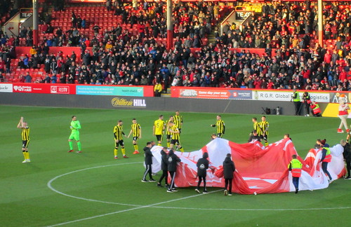 Dumbarton FC at  Pittodrie 18/1/20