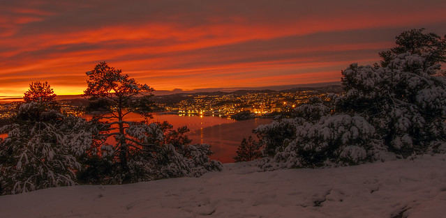 View from Odderøya towards Vågsbygd