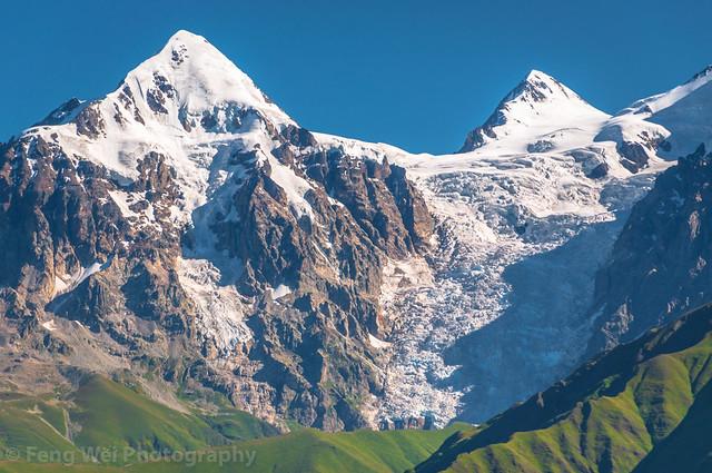 Summer Landscape In Caucasus Mountains, Latpari Pass, Svaneti Region, Georgia